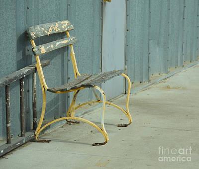 Waiting Bench Art Print by Renie Rutten