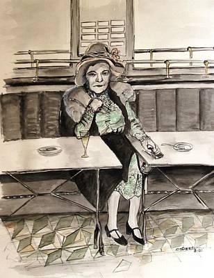 Waiting Art Print by Caroline Street