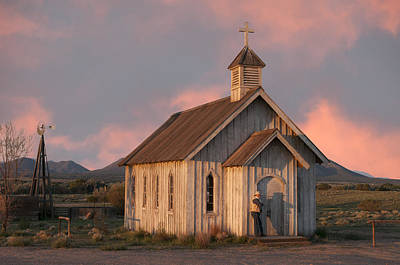 Southwest Church Photograph - Waiting.. by Carolyn Dalessandro