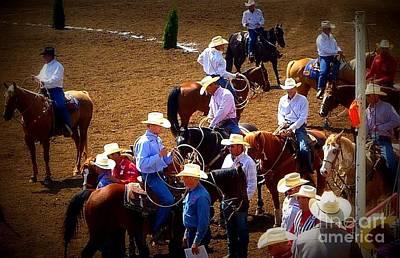 Photograph - Waiting Cowboys by Susan Garren