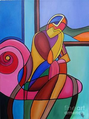 Painting - Waiting by Deborah Glasgow