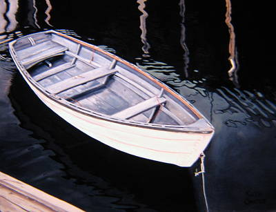 Painting - Waiting - Dinghy by Keith Gantos