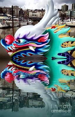 Photograph - Waiting Dragon Reflect  by Susan Garren