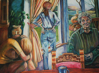 Waiting Art Print by Ellen Howell
