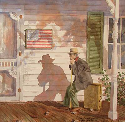 Painting - Waiting For A Friend by Tony Caviston