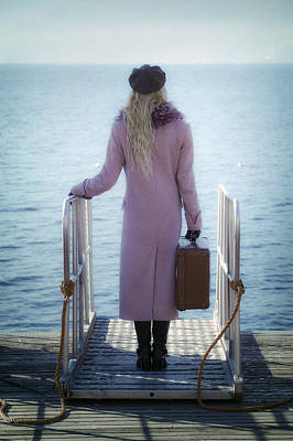 Thoughtful Photograph - Waiting For A Ship by Joana Kruse