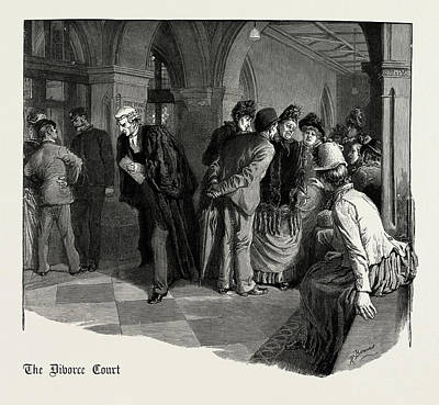 Waiting For Admission To The Divorce Court 1889 Art Print by Litz Collection
