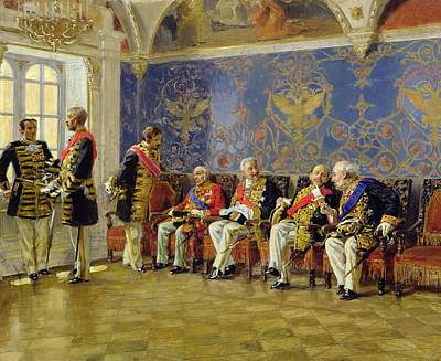 Elaborate Painting - Waiting For An Audience by Vladimir Egorovic Makovsky