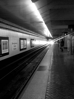 Waiting For Bart -black And White Art Print