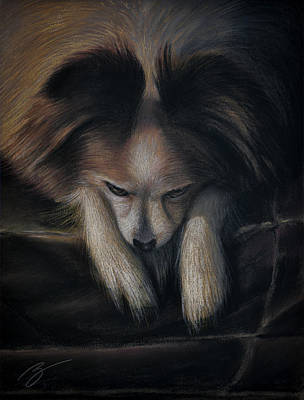 Pastel - Waiting For Bed - Pastel by Ben Kotyuk