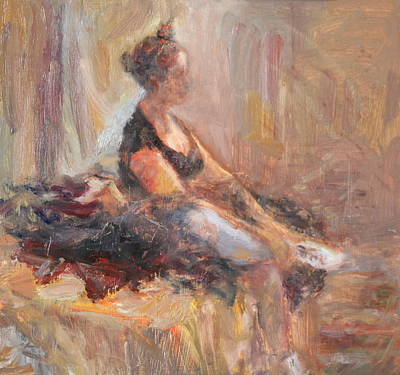 Painting - Waiting For Her Moment - Impressionist Oil Painting by Quin Sweetman