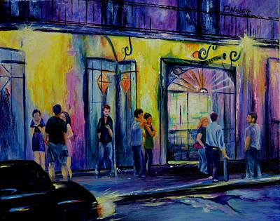 Wall Art - Painting - Waiting For Preservation Hall by Paula Noblitt