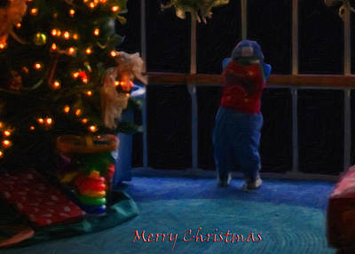 Digital Art - Waiting For Santa - Christmas Card by Chris Flees