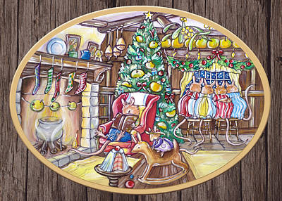 Target Threshold Watercolor - Waiting For Santa Claus #1 by GRAAL Publishing