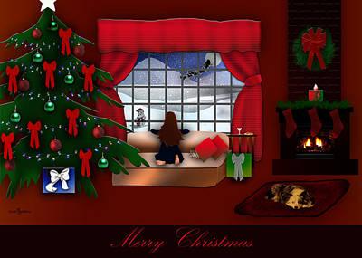 Christmas Holiday Scenery Photograph - Waiting For Santa by Mechala  Matthews
