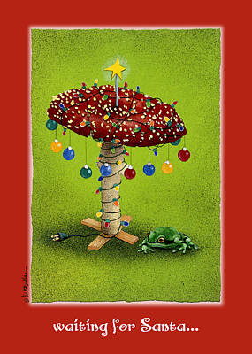 Mushrooms Painting - waiting for Santa... by Will Bullas