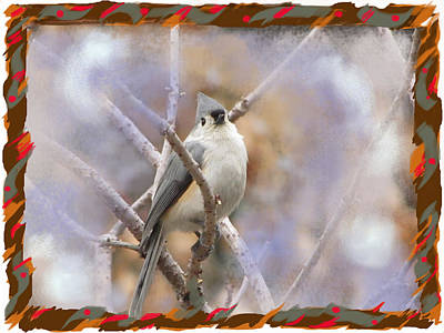 Titmouse Mixed Media - Waiting For Spring by Mary Armstrong