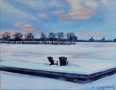 Cambridge Painting - Waiting For Spring by Sue Birkenshaw