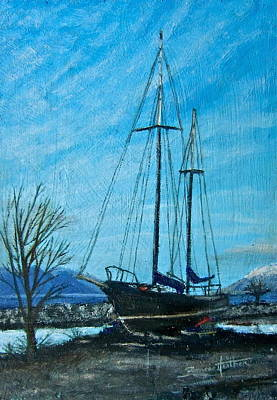 Painting - Waiting For Springtime. by Bonnie Heather