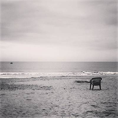 One Photograph - Waiting For Summer #one #sea #bw #sky by Mariana Mincu