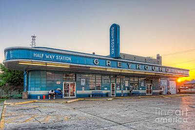 Old Bus Stations Photograph - Waiting For The Bus I by Clarence Holmes
