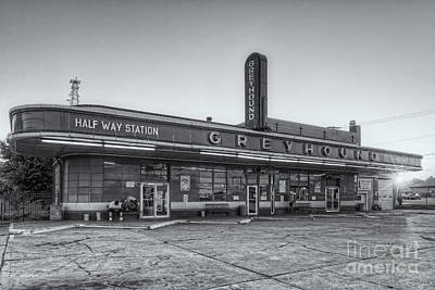 Old Bus Stations Photograph - Waiting For The Bus II by Clarence Holmes