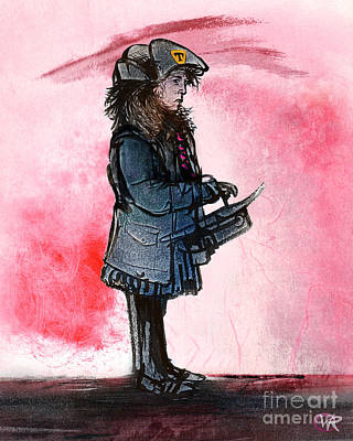 Waiting For The Bus Art Print by William Rowsell