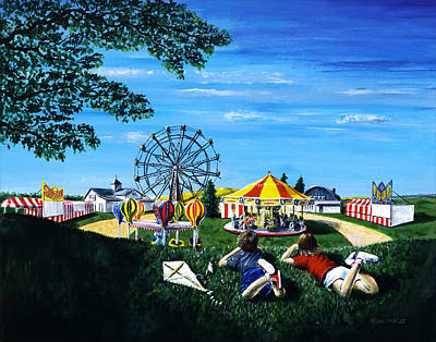 Country Fair Painting - Waiting For The Fair by Ron Haist