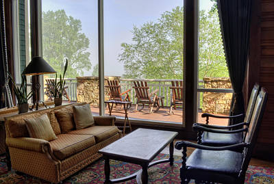 Fog Photograph - Waiting For The Fog To Lift Inside Brasstown Valley Resort by Greg Mimbs