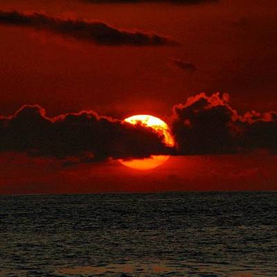 Sunset Photograph - Waiting For The Green Flash That Never by Brian Governale