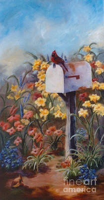 Painting - Waiting For The Mail by Brenda Thour