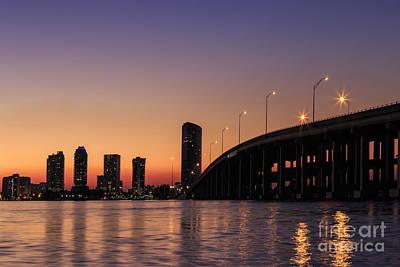 Florida Bridge Photograph - Waiting For The Night by Evelina Kremsdorf
