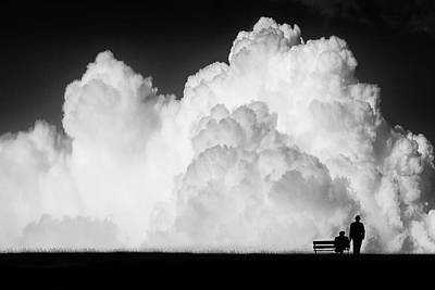 Benches Photograph - Waiting For The Storm by Stefan Eisele
