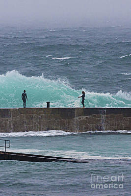 Sennen Cove Photograph - Waiting For The Wave by Terri Waters