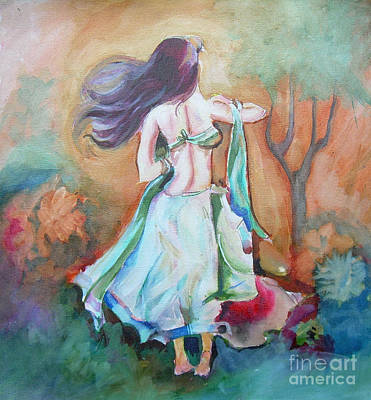 Painting - Waiting For Tonight by Chintaman Rudra