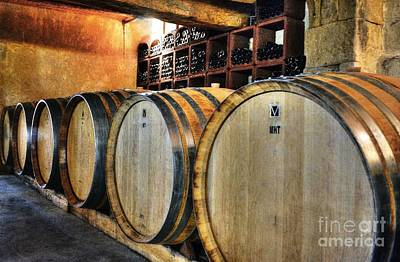 Wine Barrel Photograph - Waiting For Wine 2 by Mel Steinhauer