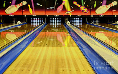 Bowling Alley Photograph - Waiting For You In The Alley by Bob Christopher