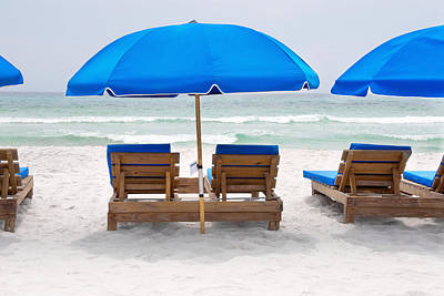 Art Print featuring the photograph Panama City Beach Florida Empty Chairs by Vizual Studio