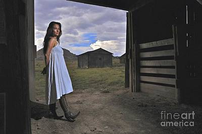 Photograph - Waiting In The Barn by Sherry Davis