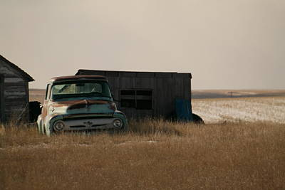 Old Trucks Photograph - Waiting In The Weeds by Jeff Swan