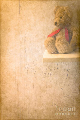 Teddy Bear Photograph - Waiting  by Jan Bickerton