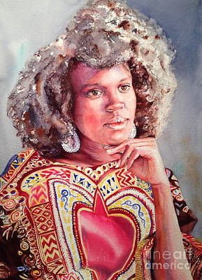 Painting - Afro Beauty by Kathy Flood