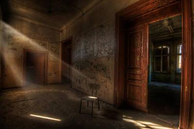 Creepy Digital Art - Waiting  by Nathan Wright