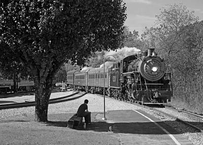 Photograph - Waiting On A Train by Joseph C Hinson Photography