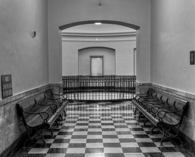 Photograph - Waiting On Justice In Black And White by Greg Mimbs