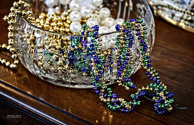 Mardi Gras Beads Photograph - Waiting On Mardi Gras by Andy Crawford