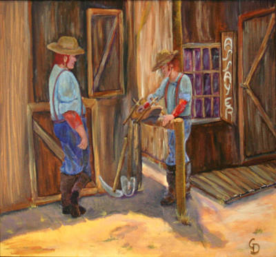 Painting - Waiting On The Assay by Gail Daley