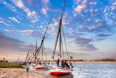Sailboat Photograph - Waiting On The Banks Of The Nile In Egypt by Mark E Tisdale