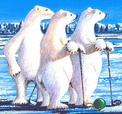 Waiting On The Tee Box Art Print by Bob Patterson