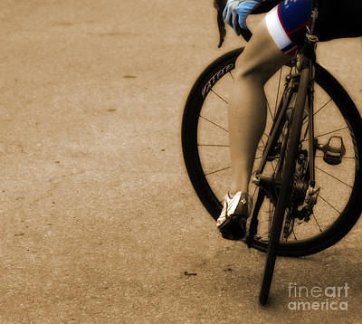 Athlete Photograph - Waiting On Wheels by Steven Digman
